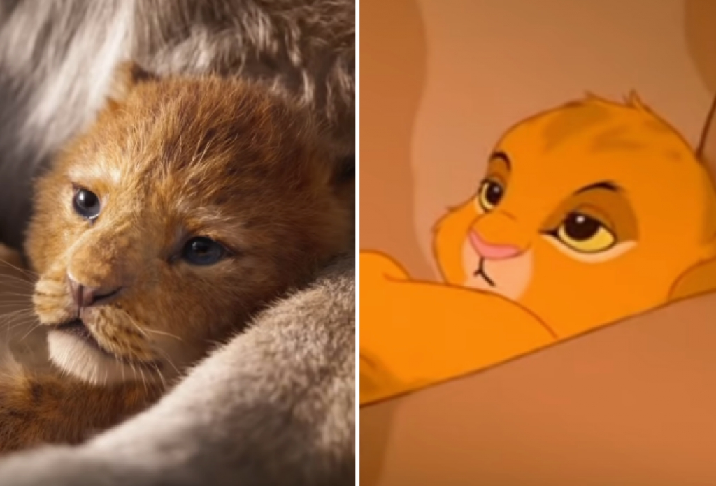 thich thu voi video so sanh giua hai phien ban cua the lion king