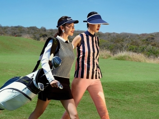 a hoang golf queen hai anh goi y cach mix do trong thoi tiet giao mua